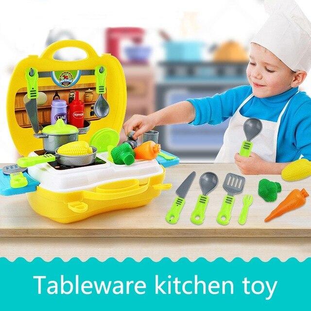 Täuschen Spiel küche Spielzeug Für Kinder Pretend Spielzeug Koffer ...