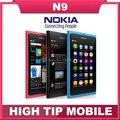Разблокирована оригинальный Nokia N9 GSM сенсорный экран мобильного телефона 3 Г WI-FI 8MP камера мобильного телефона Отремонтированы бесплатно shipping1 год гарантии