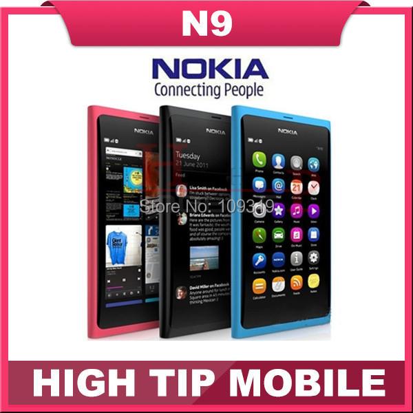 Abierto original nokia n9 gsm teléfono celular de la pantalla táctil 3g wifi 8mp cámara móvil reformado año de garantía shipping1 libre