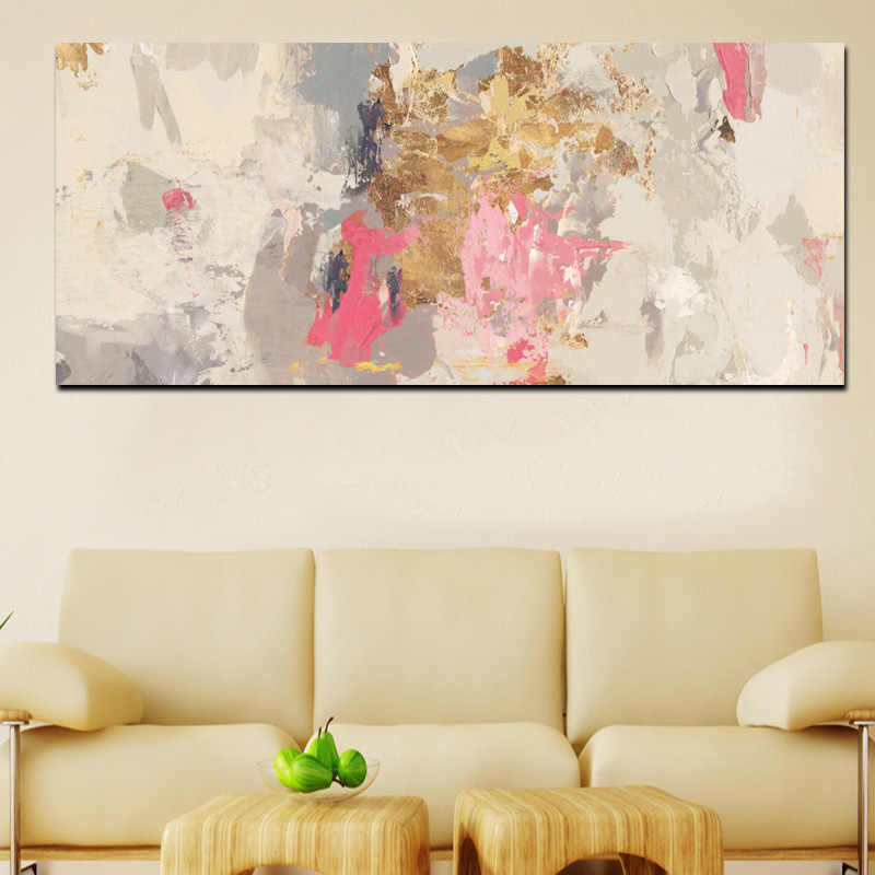 Abstract Art Craft Painting Hand Painting on Print Canvas Oil Painting for Home Wall Decoration Frameless