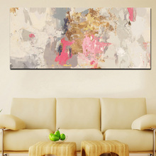 Abstract Art Craft Painting Hand on Print Canvas Oil for Home Wall Decoration Frameless
