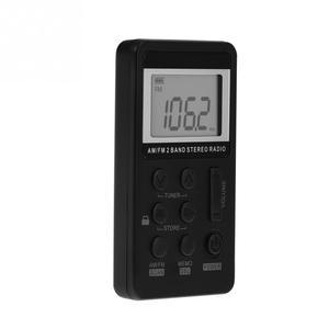 Image 3 - Récepteur Radio de poche stéréo double bande universel à 2 bandes avec écran LCD et écouteurs