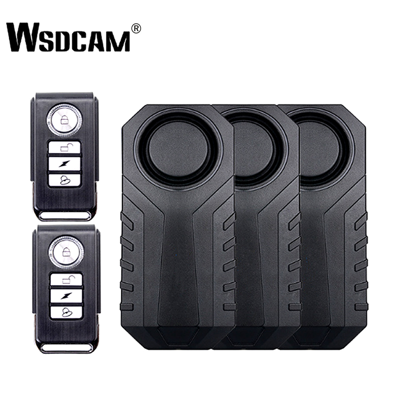 Wsdcam Waterproof Remote Control Bike Motorcycle Electric Car Vehicle Security Anti Lost Remind Vibration Warning Alarm Sensor