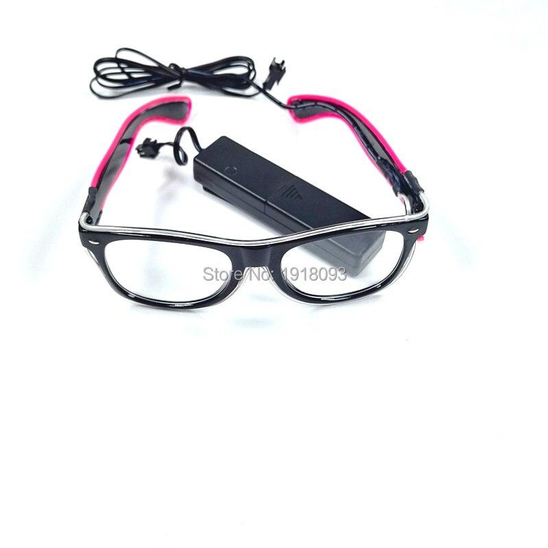 Мигание Очки 30 штук EL Провода flash многоцветный Солнцезащитные очки для женщин с голосовой контроллер Оригинальные светильники реквизит для