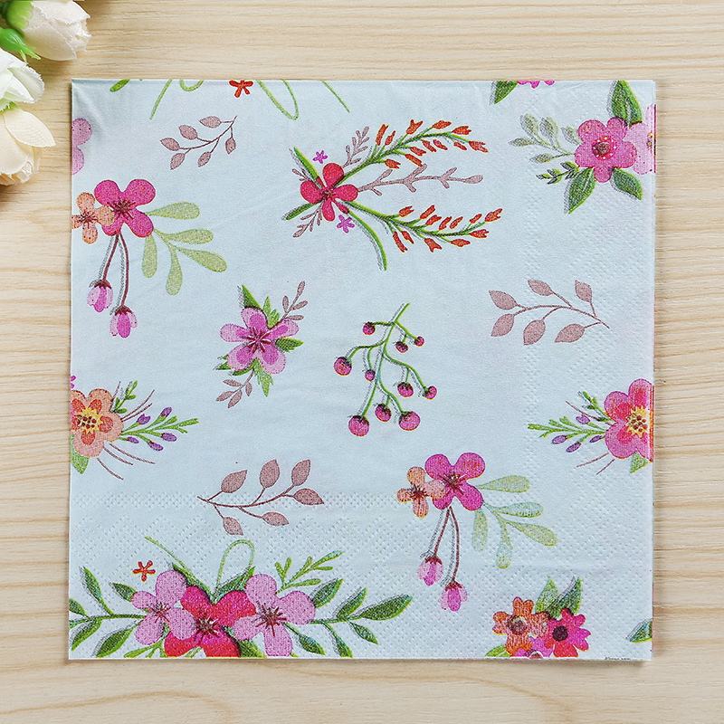 20pcspack table paper napkins tissue vintage floral printed flower birthday wedding decorative handkerchief christmas supplies on aliexpresscom alibaba