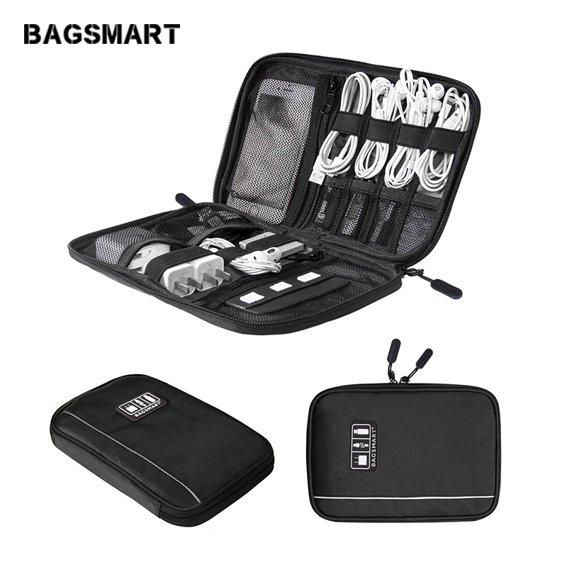 BAGSMART Elektroniska Tillbehör Arrangörer För SD-kort iPhone Dater Kablar Hörlurar USB Digital TravelCase Organisera Handväska