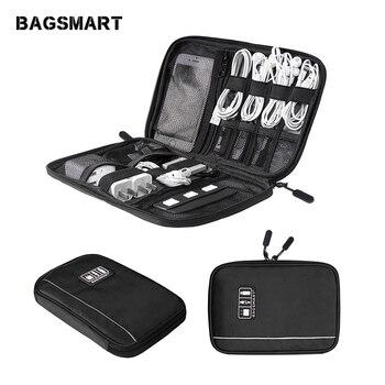 BAGSMART accesorios electrónicos organizadores para tarjeta SD iPhone Dater Cables auriculares USB Digital TravelCase organizar bolso