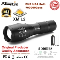 UltraFire E17 CREE XM L2 2000Lumens Cree Led Torch Zoomable Cree LED Flashlight Torch Light For