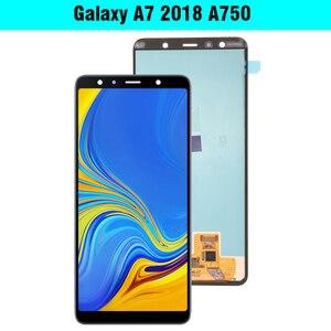 """Image 2 - Display LCD AMOLED Super da 6.0 """"per Samsung Galaxy A7 2018 A750 Display A750F con gruppo Touch Screen parte di ricambio"""