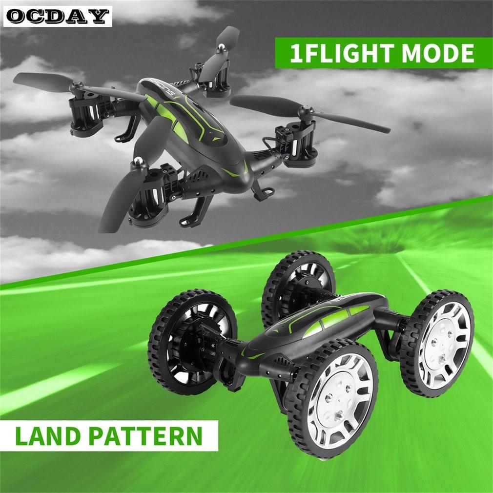 OCKAY FY602 RC Drone Avec Caméra HD Air-Route Double Modèle Voiture Volante 2.4g RC Quadcopter Drone 6 -axe 4CH Hélicoptère Double Côtés