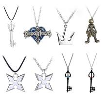 ca8d825e5e69 Juego Reino corazones 3 Sora llave Keyblade arma Metal colgante collar  decoración llavero llaveros adorno regalos Cosplay