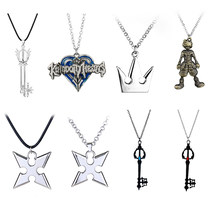 Game Kingdom Hearts 3 Sora Key Keyblade Weapon Metal Pendant Necklace Decor Keychain Key Chains Ornament Gifts Cosplay(China)