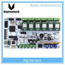 BIQU Rumba Para impresora 3D motherboard rumba MPU RUMBA versión optimizada Tablero de control con 6 unids A4988 Stepper Conductor