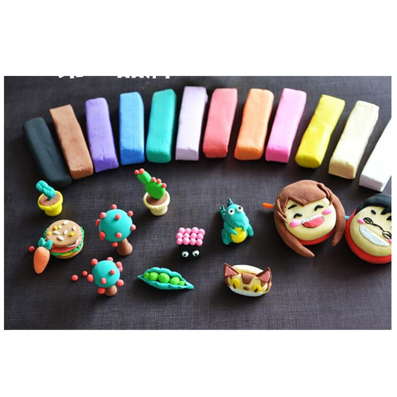 24pcs Play Dough Polymer Plasticine DIY Plasticine Clay DIY Light Soft Creative Handgum Toy Modelling Clay Air Dry Playdough