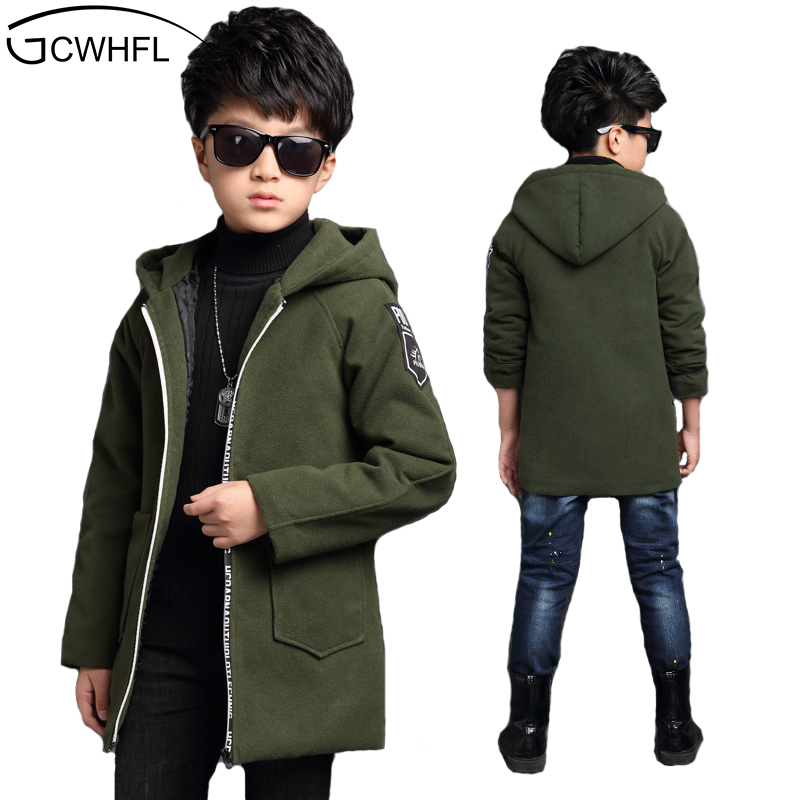 GCWHFL New 2018 Spring & Autumn Jackets For Boys Active Letter Hooded Coat Children Outerwear Big Boy Jacket 6-15Y Kids Clothes spring autumn kids jacket pu leather boy jackets clothes children outwear for baby boys letter embriodery jackets 902