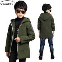 GCWHFL New 2019 Spring & Autumn Jackets For Boys Active Letter Hooded Coat Children Outerwear Big Boy Jacket 6-15Y Kids Clothes