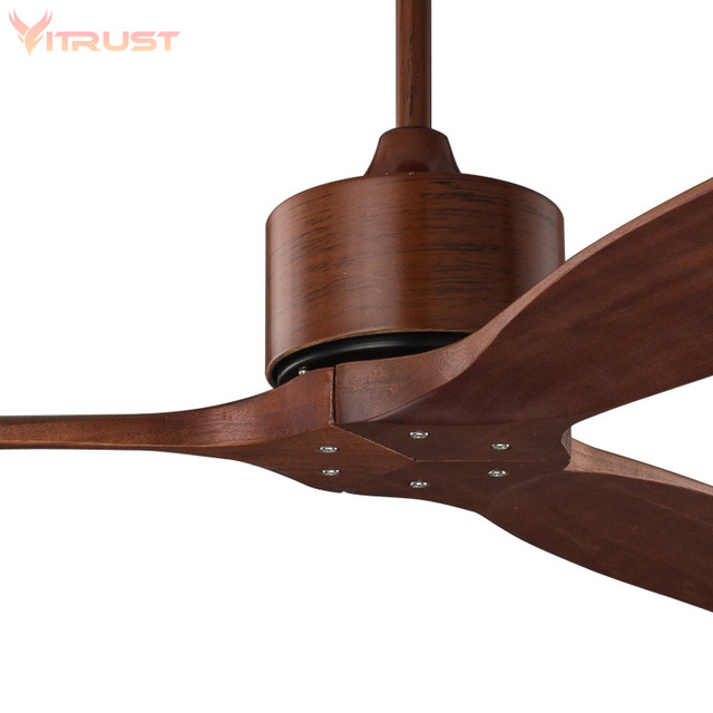 52 Inch Wooden Ceiling Fan Remote Control Decorative Wood Ceiling Fans Without Light Fan Lamp 220V Ventilador De Teto Lamp