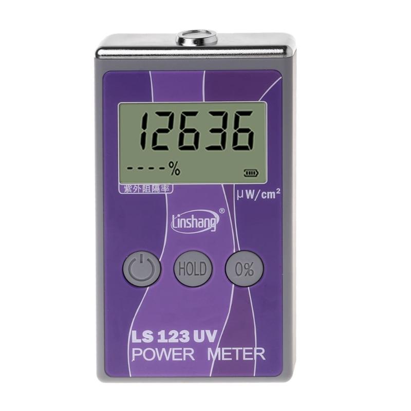 LS123 UV Power Meter Ultraviolet Intensity Transmittance Rejection Rate Tester Aug 26
