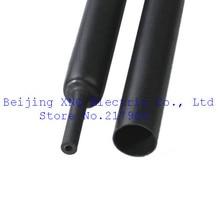 Четырехместный двойной жары стены термоусадочная трубка 20 мм черный внутренняя труба 4 раза термоусадочная водостойким клеем