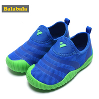 Balabala Beathable Shoes 2018 New Fashion Boys Sneakers Floral Embroidery Sports Sneakers Children Comfortable Shoes