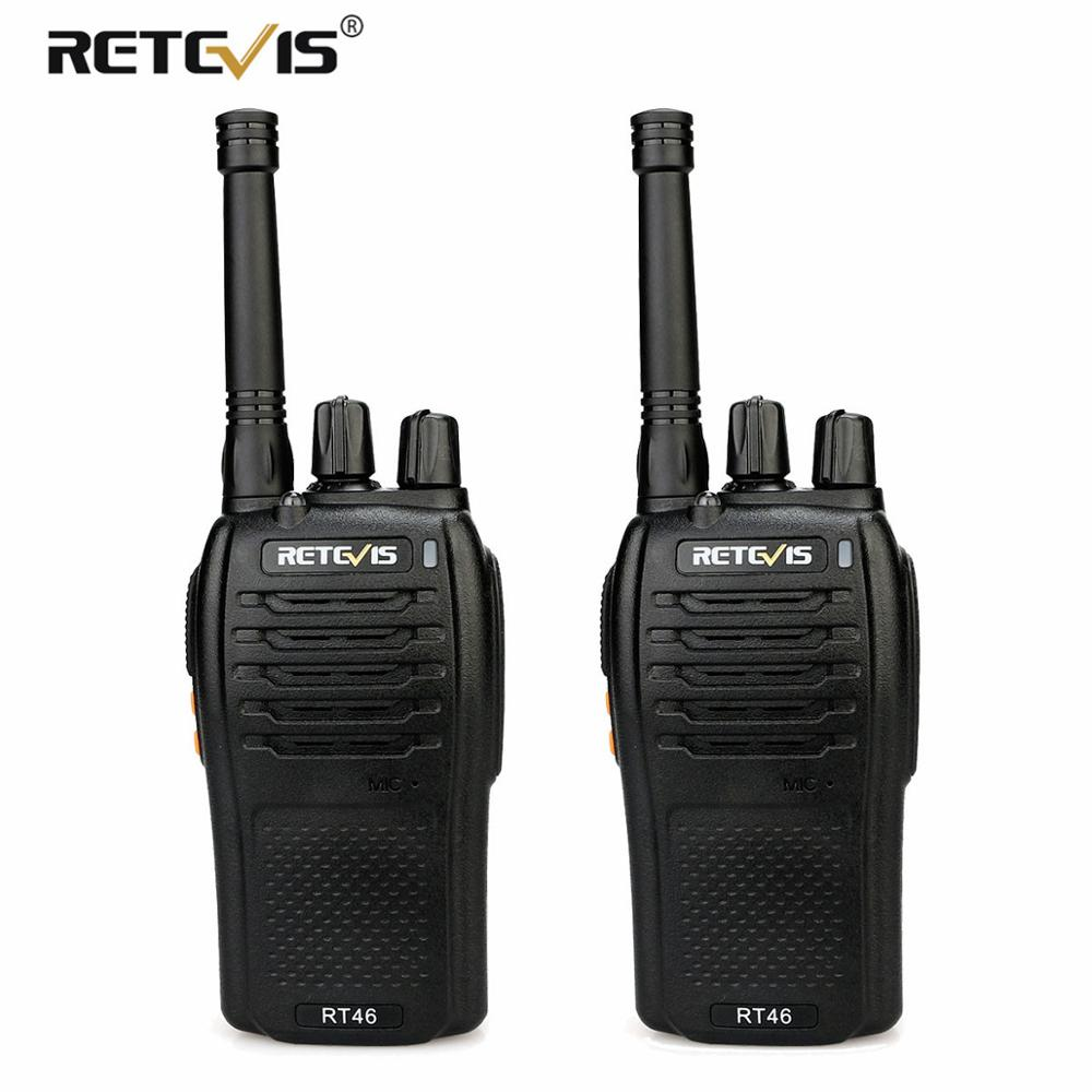 or Aa Battery A Pair Retevis Rt46 Walkie Talkie 2w Portable Two Way Radio Transceiver Vox Micro-usb Charging Support Li-ion