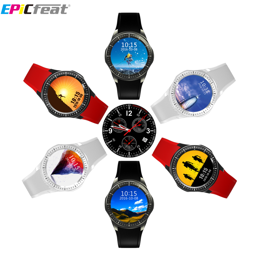 EPiC Bluetooth Wifi GPS Heart Rate Smart Watch Phone for Android iOS 2G 3G Pedometer Sleep Tracker Health Smart Watch DM368 mu2 unisex bluetooth wrist watch health sleep monitor for android ios