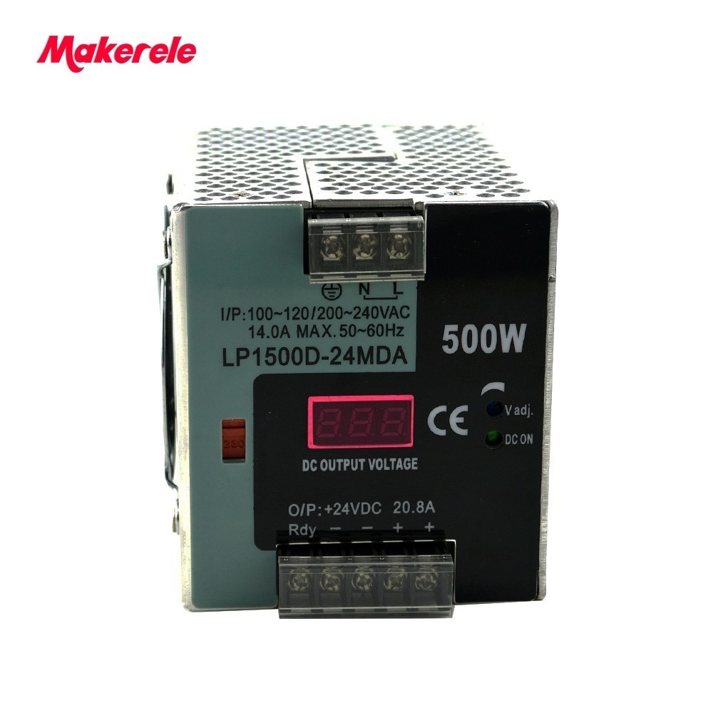500w 24v 20.8a Ac-dc Single Output Switching Power Supply LP-500-24 INPUT 110V 220V For LED Strip With Digital Display 500w lp 500 24 500w 24v 20 8a ac dc power supply single output switching power supply for led strip with digital display
