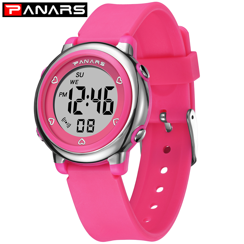PANARS Kids Digital Watch Boys Girls Watches Children Digital Cute Boys Girls Sport Watch Waterproof Alarm Child Education Watch
