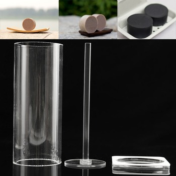 Vertical Circle Acrylic Soap Mold Mould Handmade DIY Craft Tool w/ Bottom Tray