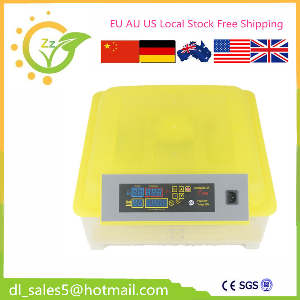 Fully automatic 48 egg incubator brooder Cheap machine for hatching eggs EU Free shipping cam стульчик для кормления smarty pop cam бежевый с медвежонком