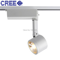 LED Track Light Rail Spot Light Spotlight Lamp CREE COB 20W 10 30 Degree 3000K 4000K 5000K Aluminum Track Lighting Fixture DHL