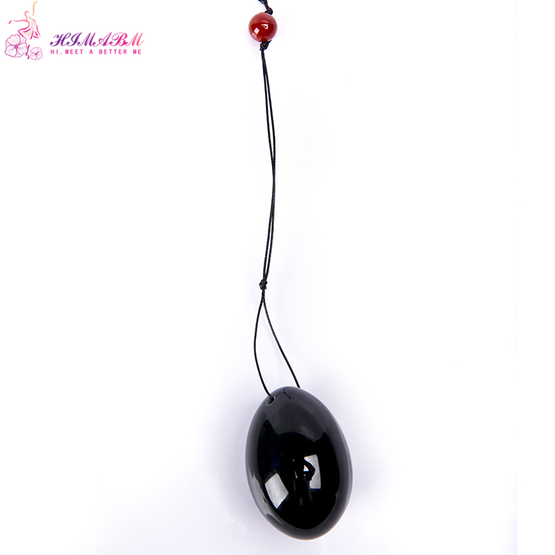 FREE SHIPPING natural jade egg for Kegel Exercise 50*40mm Pelvic Muscle Vaginal Tightening Ben Wa ball yoni egg