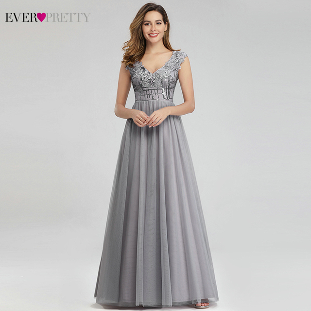 Платье длинное ТРАПЕЦИЕВИДНОЕ с V образным вырезом и блестками