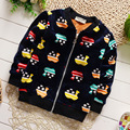 Winter children 's clothing cartoon casual boy's plus cashmere cardigan jacket kid's warm coat H436