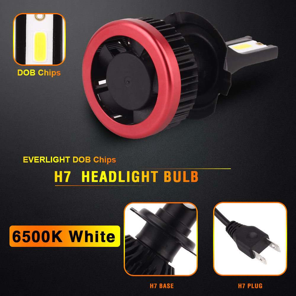 Image 4 - 2Pcs 55W H4 Led Bulb Car LED Headlight H7 H11 9005 9006 H1 H3 Auto Headlamp Super Bright Lamp 12 24V 6500K White Light 10000Lm-in Car Headlight Bulbs(LED) from Automobiles & Motorcycles