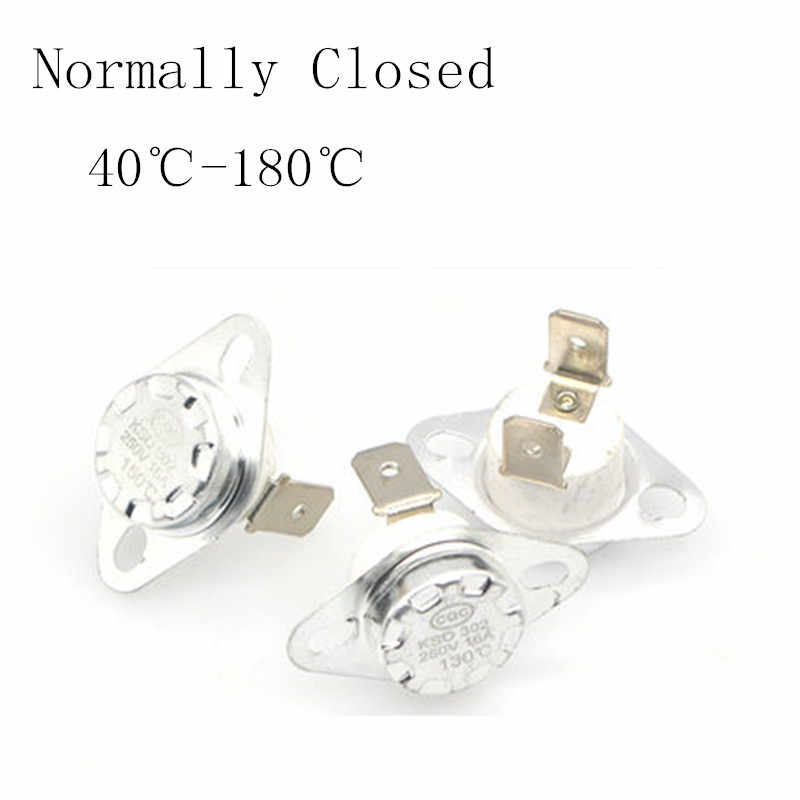 KSD302 16A 250V 40-180 degree Ceramic KSD301 Normally Closed Temperature Switch Thermostat 45 55 60 65 70 75 80 85