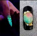 Nuevo Profesional de DIY Del Arte Del Clavo Para Las Mujeres Magia Pigmento Fluorescente Que Brilla en la Oscuridad de Uñas Glitter Powder