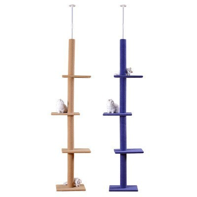 Adjustable 236~286cm Cat Climbing Tree Cat Jumping Frames Toys Scratch Post for Kittens Assembled Pet House Play Supplies CW037
