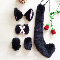 Anime Cakes The Ahri Cat Ear Clip Tail Cosplay Maid Masquerade Props Halloween Headwear A Variety Of Options