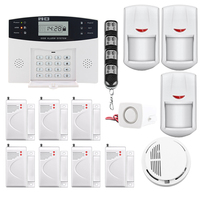Saful Top Quality Wireless GSM Home Security Alarm System LCD Display SMS And Smoke Sensor Hot