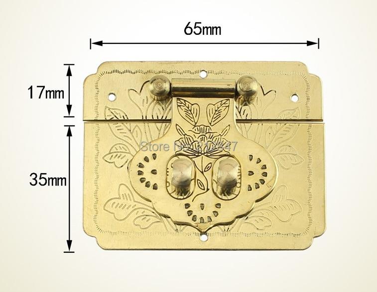 цена Vintage Antique Iron Chinese Old Lock Retro Brass Padlock Jewelry Wooden Box Padlock Lock for Suitcase Drawer Cabinet + Key в интернет-магазинах