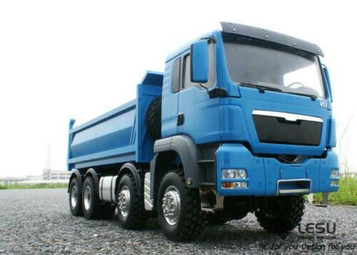 LESU MAN 8*8 1/14 RC Hydraulic Lifting Dumper Truck Model Motor ESC Painted Car THZH0349