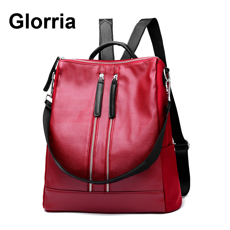 Leather Backpack Women Large Capacity School Bags Student Bookbag Female Backpacks Travel Bag Back Pack Kanken Mochila Feminina