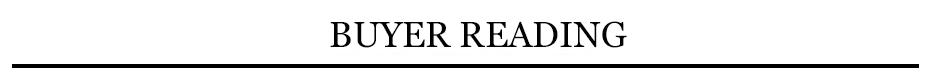 buyer reading