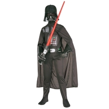 Hot Sale Deluxe Child Movie Star Wars The Force Awakens Villain Character Darth Vader Halloween Cosplay Costumes(China)