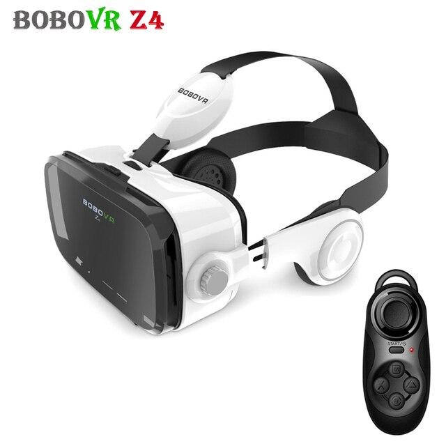 With Rechargeable Gamepad BOBOVR Z4 Googles Cardboard Virtual Reality VR 3D Glasses Headset vrbox Helmet  for 4-6' Mobile Phone