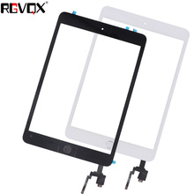 цена на RLGVQDX Touch Screen For iPad Mini 3 A1599 A1600 A1601 Digitizer Replacement Front Glass with home button and Ic connector