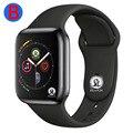 B для мужчин для женщин Bluetooth Смарт часы серии 4 Смарт-часы для Apple iOS iPhone Xiaomi Android смартфон (красная кнопка)