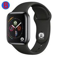 B для мужчин для женщин Bluetooth Смарт часы серии 4 Смарт часы для Apple iOS iPhone Xiaomi Android смартфон (красная кнопка)