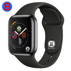 B Mannen Vrouwen Bluetooth Smart Horloge Serie 4 SmartWatch voor Apple iOS iPhone Xiaomi Android Smart Telefoon (Rode Knop)